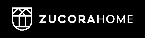 Zucorahome logo in white colour.